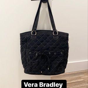 Vera Bradley black quilted tote bag